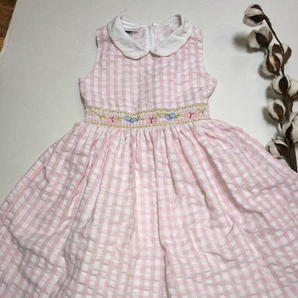 9adf888284b Bonnie Jean Other - Bonnie Jean Smocked Dress Sz 6X Pink Plaid